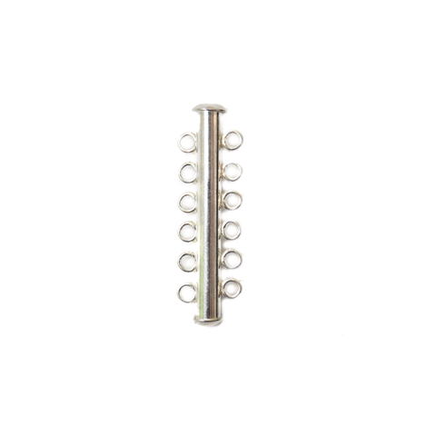 5 Strand Multistrand Clasp, Sterling Silver, 36x10  - 1 piece