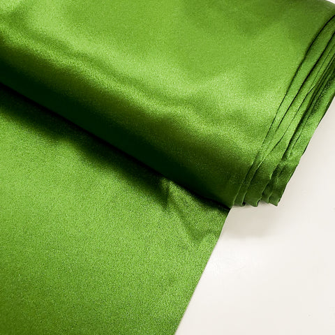 "Green, Crepé Back Satin - 60"" wide; 1 Yard"