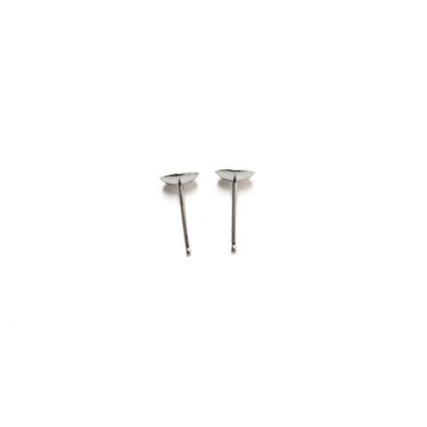 Pin Cup, Sterling Silver, 5mm; 1 pair