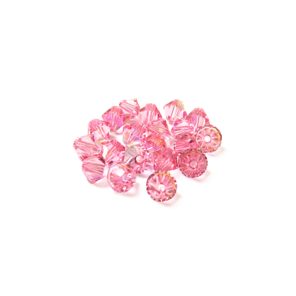 Swarovski Crystal, Bicone, 5MM - Light Rose AB; 20pcs