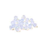 Swarovski Crystal, Bicone, 5MM - White Opal; 20pcs
