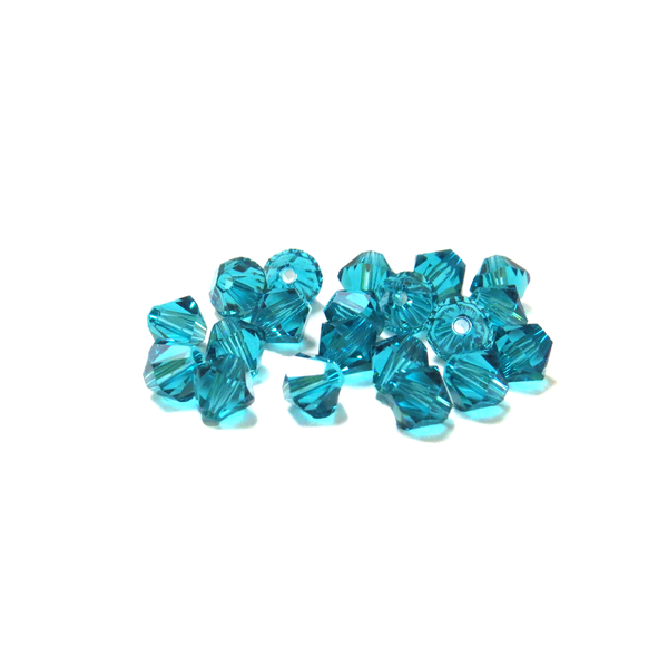 Swarovski Crystal, Bicone, 5MM - Blue Zircon; 20 pcs