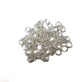 Jump Ring, Silver Plated Brass-5mm; 100pcs