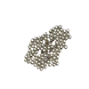 Crimp Beads, Silver Plated Brass-2mm; 100pcs