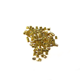 Crimp Tube, Gold Plated Brass 2mm; 100pcs