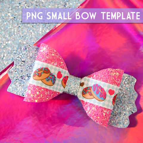 PNG - SMALL Bow Template #6 Digital File Download