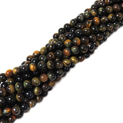 Blue Tiger Eye , 6mm - 1 strand