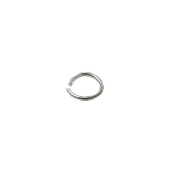 Jump Ring Open, Sterling Silver, 6mm; 1 piece