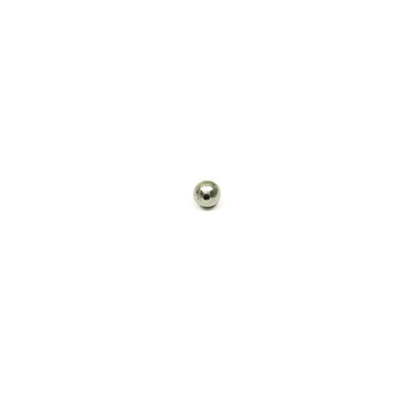 Smooth Italian Spacer, Sterling Silver, 6mm; 1 piece