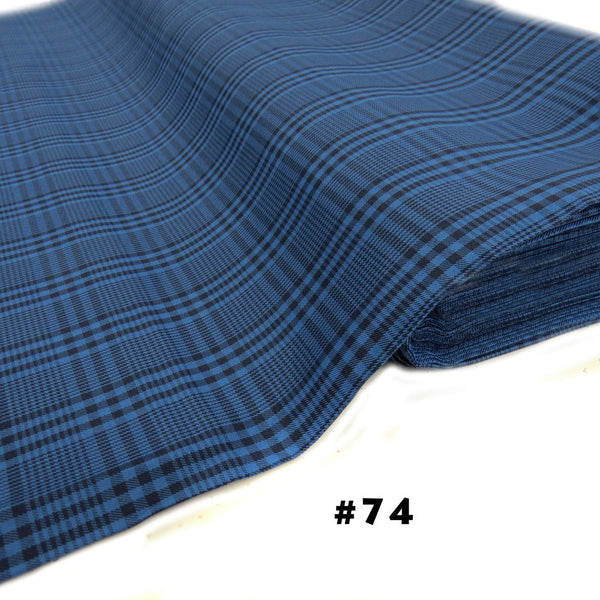 School Plaids, Blue Black, 60