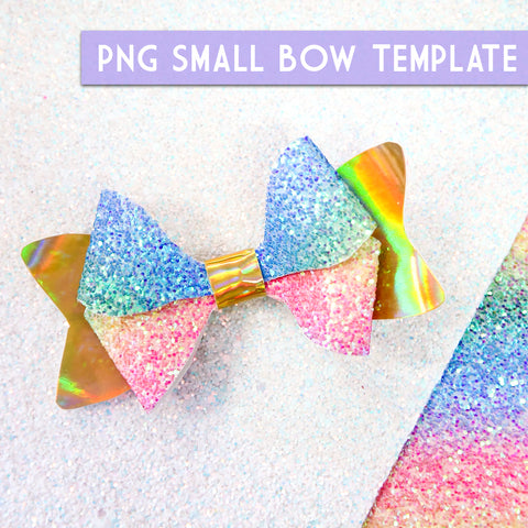 PNG - SMALL Bow Template #7 Digital File Download