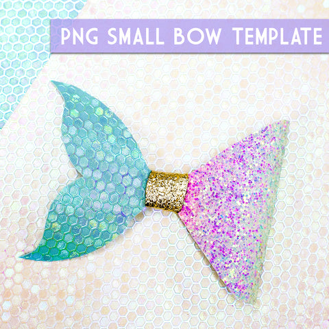 PNG - SMALL Bow Template #8 Digital File Download