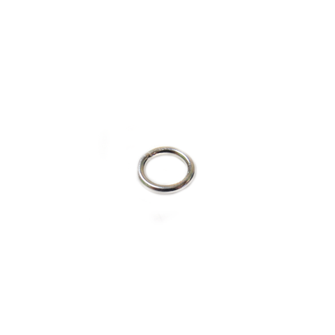Jump Ring Closed, Sterling Silver, Gauge 18, 5mm; 1 piece