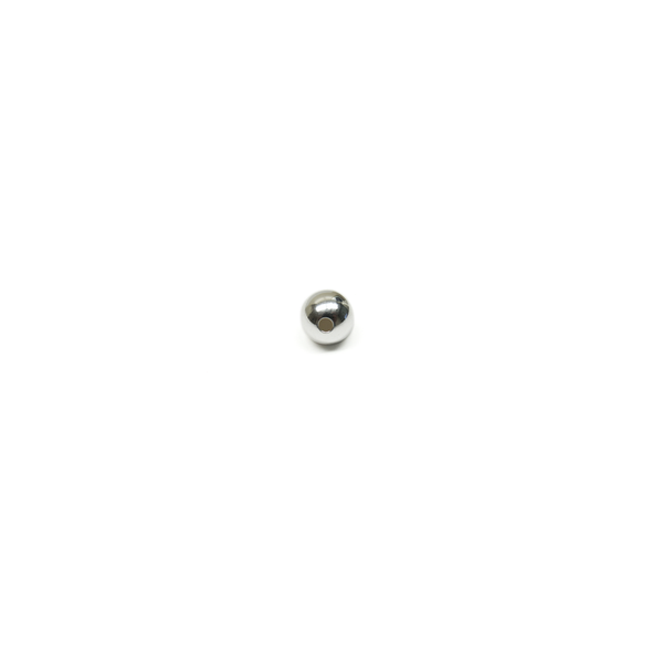 Smooth Round Spacer, Sterling Silver, 8mm; 1 piece