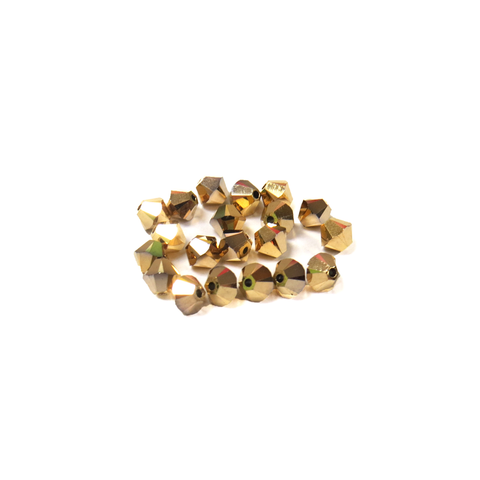 Swarovski Crystal, Bicone, 4MM - Aurum 2X; 20pcs