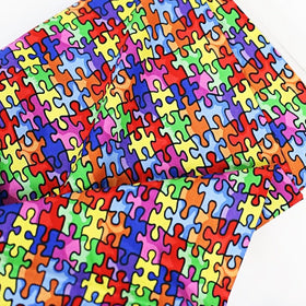 Autism Awareness Fabric-100% Cotton Print Fabric, 44/45