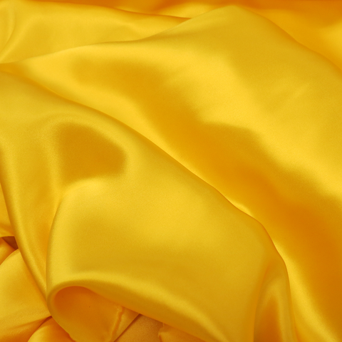 "Silk Charmeusse, Bright Yellow, 54"" Wide- 1 Yard"