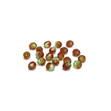 Brown/Green, Round Faceted Fire Polished; 6mm - 20 pcs
