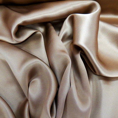 "Silk Charmeusse, Brown, 54"" Wide- 1 Yard"