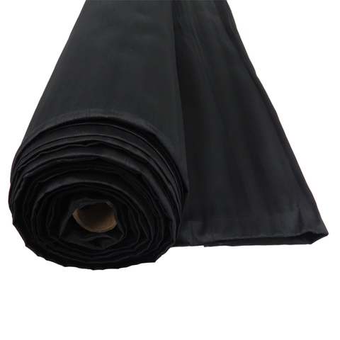 "Black, Shantung - 118"" wide; 1 Yard"