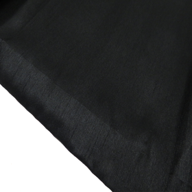 Black, 100% Textured Shantung - 118
