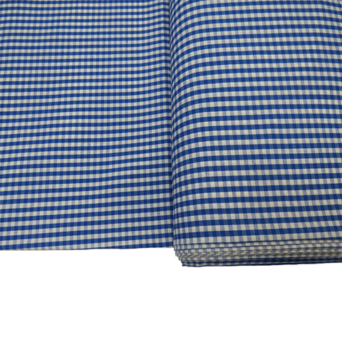 "Royal Blue Gingham Check 1/8- 60"" wide; 1 yard"
