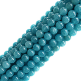 Blue Quartz, Round, 10mm; 1 Strand