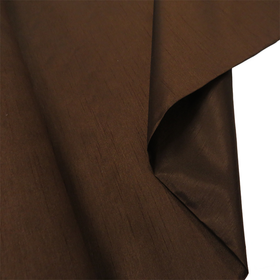 Brown, 100% Textured Shantung - 118