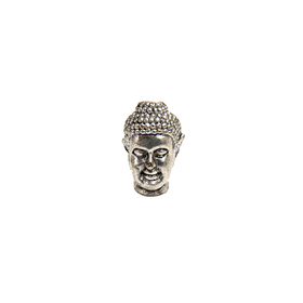 Buddha, Spacer -  Antique Silver