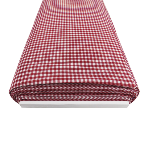 "Burgandy Gingham Check 1/8- 60"" wide; 1 yard"