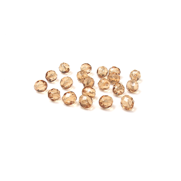 Golden Shadow, Round Faceted Fire Polished Beads-8mm; 20pcs