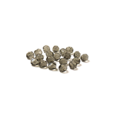 Black Diamond, Round Faceted Fire Polished; 6mm - 20 pcs