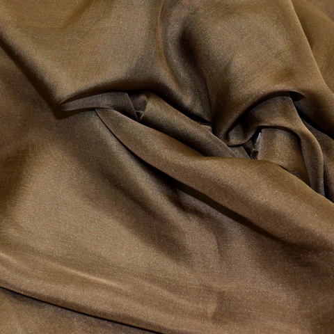 "Brown Silk Chiffon, 54"" Wide- 1 Yard"
