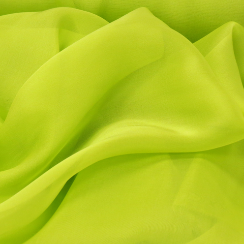 "Chatreuse Silk Chiffon, 54"" Wide- 1 Yard"