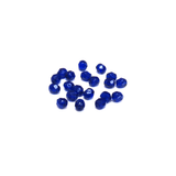 Cobalt, Round Faceted Fire Polished; 6mm - 20 pcs