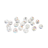 Crystal AB, Round Faceted Fire Polished Beads- 10mm; 20pcs