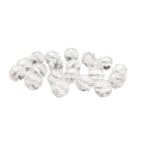 Crystal, Round Faceted Fire Polished; 12mm - 20 pcs