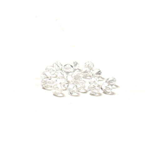 Crystal, Round Faceted Fire Polished; 6mm - 20 pcs