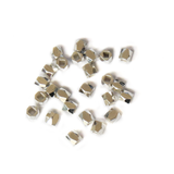 Cube Spacer Bead Faceted, Silver, 3mm; 25pcs