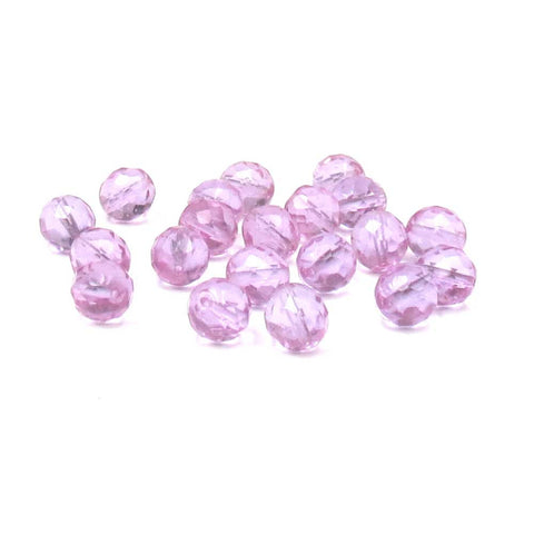 Chadaw Crystal, Round Faceted Fire Polish, 12mm-20pcs