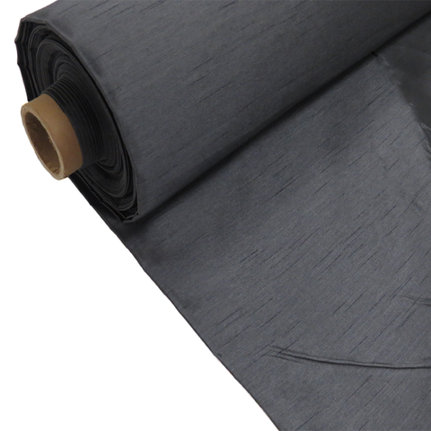"Charcoal Gray, Shantung - 118"" wide; 1 Yard"