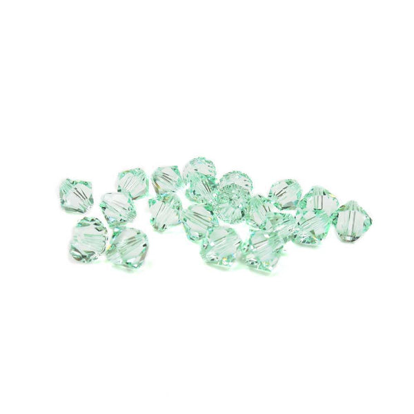 Swarovski Crystal, Bicone, Chrysolite, 6mm; 20pcs
