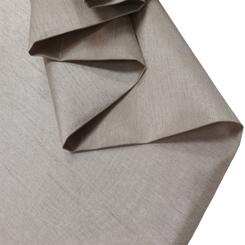 "Dark Taupe, Shantung - 118"" wide; 1 Yard"