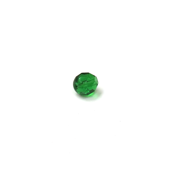 Fern Green, Round Faceted Fire Polished; 8mm - 20 pcs