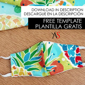 FREE DIGITAL DOWNLOAD - Face Mask Template - VER DESCRIPCIÓN / SEE DESCRIPTION