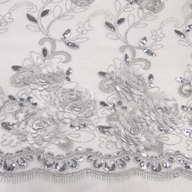 Silver, Fancy Wedding Fabrics for tablecloth - 51