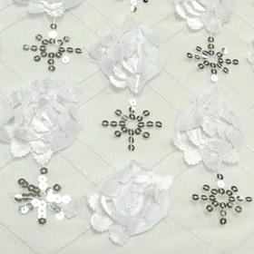 White, Fancy Wedding Fabrics for tablecloth - 51