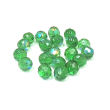 Fern Green AB, Round Faceted Fire Polished,12mm-20pcs