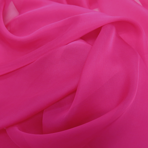 "Fuschia Silk Chiffon Fabric- 54""; 1 yard"