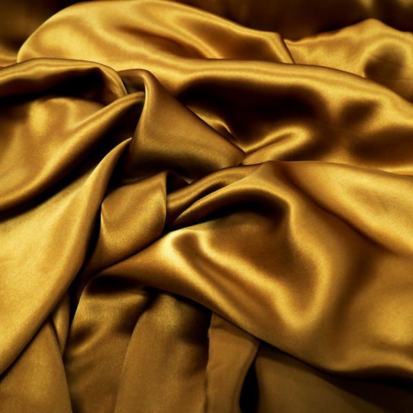 "Silk Charmeusse, Gold, 54"" Wide- 1 Yard"